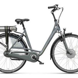 Elektrische fiets, Batavus Monaco in de kleur grijs