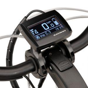 Elektrische fiets, display van de Batavus Monaco