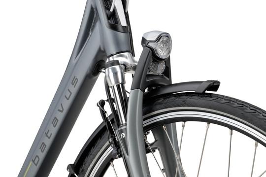 Noorderlicht fietsverhuur – Batavus Monaco – voorvork