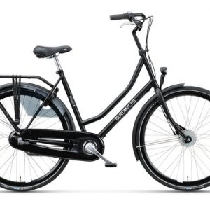 Versnellingsfiets, Batavus Winner, fiets met versnellingen in de kleur zwart