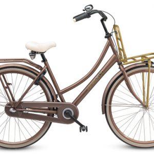 Transportfiets, Sparta Pick-up vanaf de zijkant in de kleur bruin