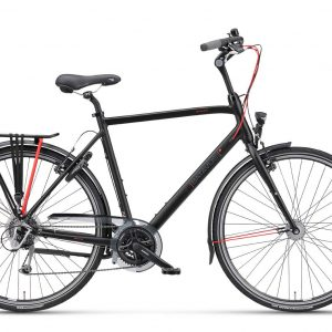 hybride fiets, fiets met versnellingen, Batavus Boulevard, een fiets met 24 versnellingen, heren