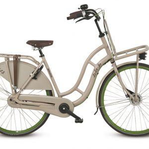 Transportfiets, fiets met versnellingen, Sparta Lola in de kleur beige