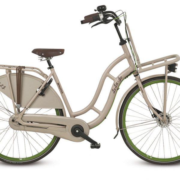 Noorderlicht fietsverhuur – Sparta – Lola – Beige – zijaanzicht