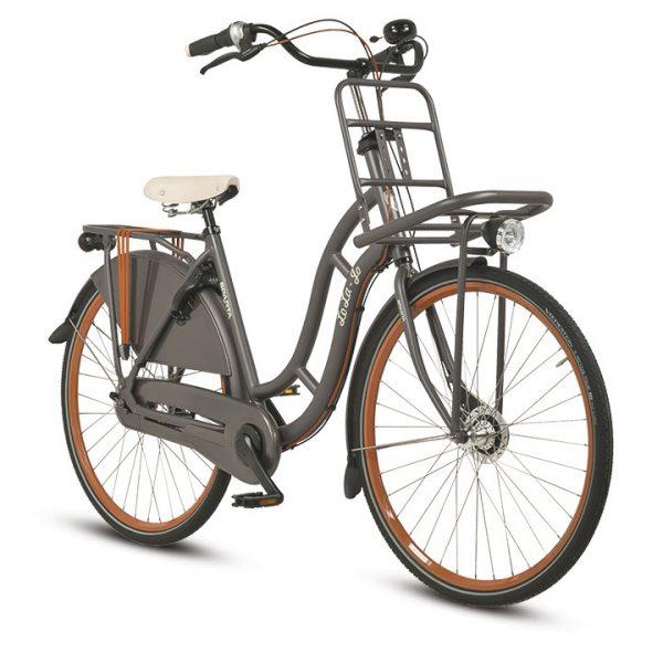 Noorderlicht fietsverhuur – Sparta – Lola – Grey – voorzijde