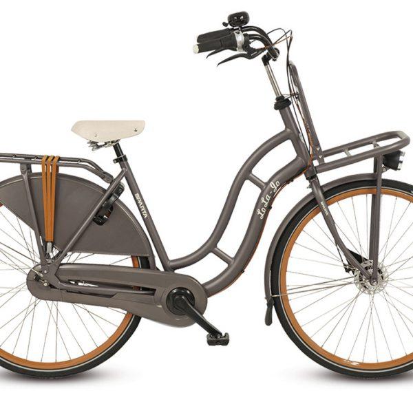 Noorderlicht fietsverhuur – Sparta – Lola – Grey – zijaanzicht