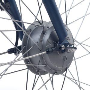 Elektrische fiets, Sparta Regular, met de motor in het voorwiel