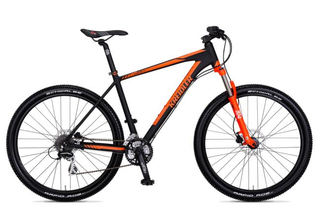 Mountainbike, Kreidler Dice, ATB in de kleur zwart met oranje