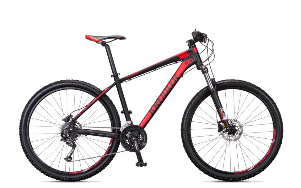 Mountainbike, Kreidler Dice, ATB in de kleur zwart met rood