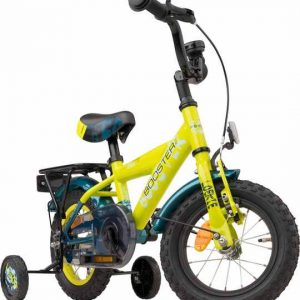 Stoere kinderfiets, Loekie Booster in de kleur geel
