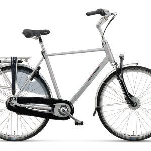 Luxe fiets met versnellingen, Batavus Holiday luxe, fiets met versnellingen en vering in de voorvork, heren model