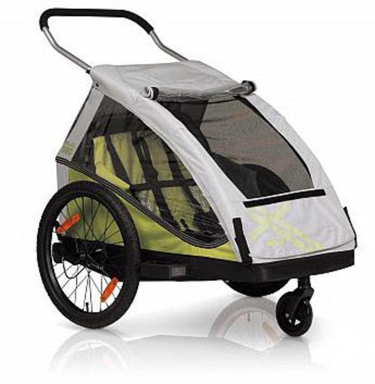 Noorderlicht fietsverhuur – Kidcar DUO – groen met grijs
