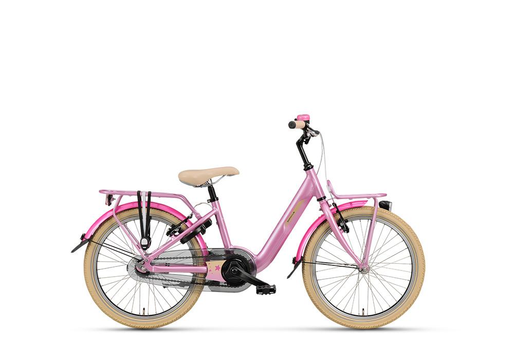 Meisjesfiets in de kleur roze, Batavus Star, kinderfiets, 20 inch