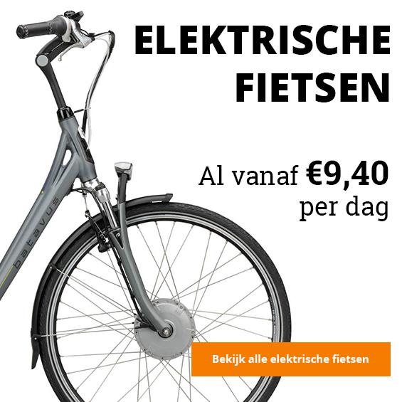 Elektrische fiets, huur een elektrische fiets al vanaf 9,40 per dag, bekijk alle elektrische fietsen
