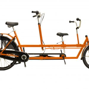 Kindertandem, kindertandem in de kleur oranje