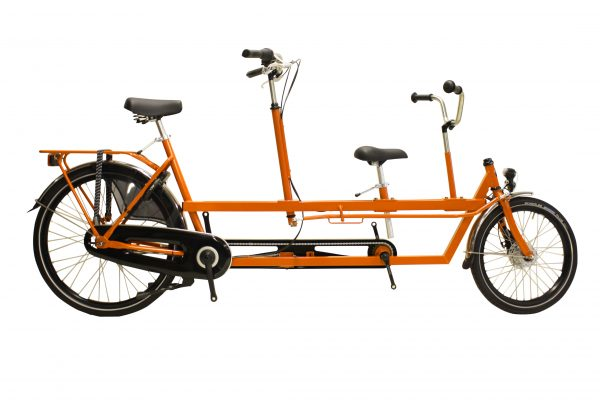 Noorderlicht fietsverhuur Terschelling – kindertandem – oranje