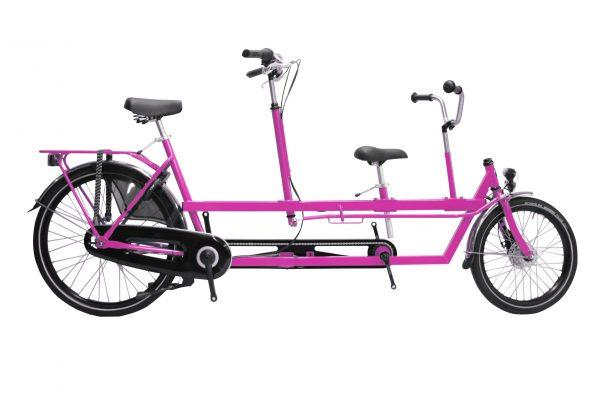 Noorderlicht fietsverhuur Terschelling – kindertandem – roze