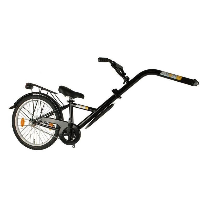 Trailerbike, aanhangfiets voor achter de fiets in het zwart