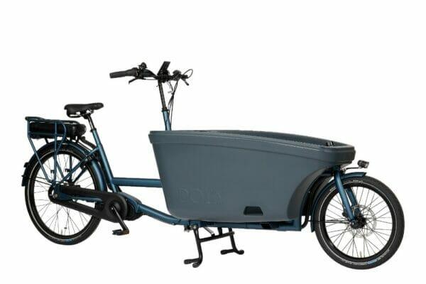 Noorderlicht fietsverhuur – elektrische bakfiets – 600Wh – blue-grey