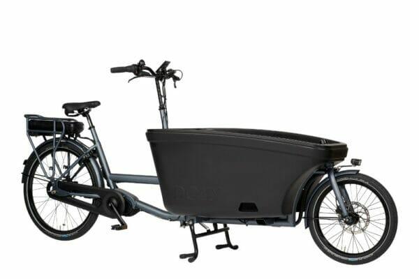 Noorderlicht fietsverhuur – elektrische bakfiets – 600Wh – grey-black